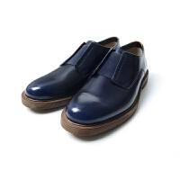 Clarks/其乐 男款鞋子Feren Slip低帮光面休闲男鞋无鞋带一脚蹬皮鞋26120543