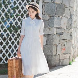 【当当年中庆】2017夏装装新款清新淑女文艺连衣裙