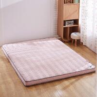 可折叠日式加厚打地铺床垫1.5m单双人可折叠1.8榻榻米床褥子水洗磨毛布立体床垫