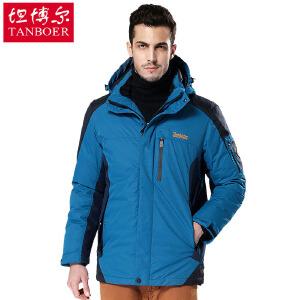 坦博尔 秋冬新款羽绒服男常规加厚大码休闲户外羽绒服TA7337