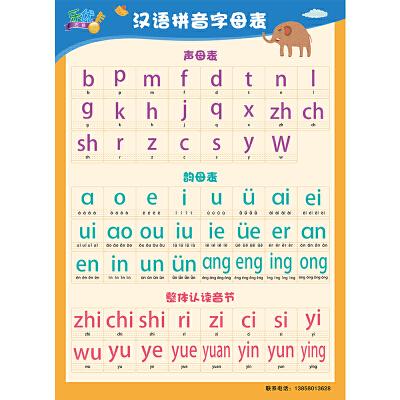 【乐优挂图右脑/v挂图卡】汉语拼音无声挂图学铺上下小学生图片