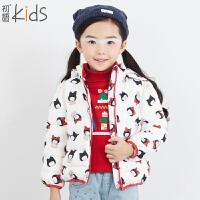初语童装 休闲女童羽绒服新款长袖卡通T5409400022
