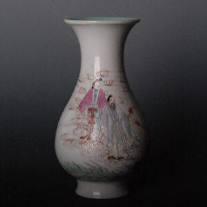 清乾隆 粉彩神仙人物瓶