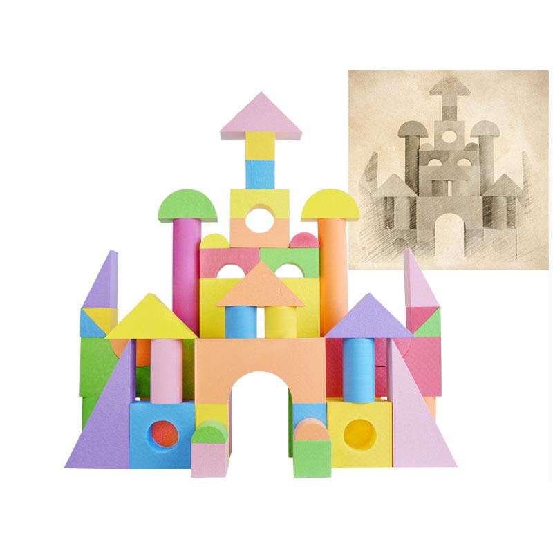 儿童玩具eva软体泡沫积木幼儿园游乐场搭建积木_升级卡通彩印款5cm厚5