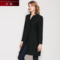 小虫 秋冬季欧美毛呢外套女修身中长款加厚呢子大衣风衣