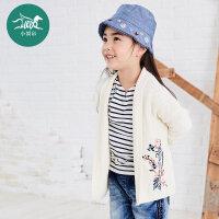 裂帛童装2017秋装围巾领绣花落肩长袖开衫女童56160122