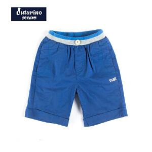 [满200减100]芙瑞诺童装男童夏装短裤休闲运动裤中小童时尚沙滩裤子