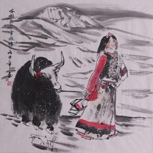 赵美琴(昆仑雪域情)中国国画家协会会员