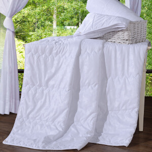 [当当自营]富安娜家纺床上用品夏被空调被夏凉被 婉安空调被-白色 1.5床(203*229cm)