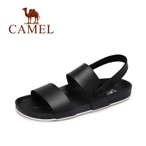 Camel/骆驼女鞋 2017夏季新款 休闲百搭低跟罗马凉鞋 平底凉鞋