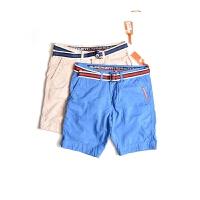 Superdry\极度干燥短裤男士运动休闲短裤五分裤-送帆布皮带