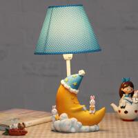 御目 台灯 暖光儿童台灯卧室灯喂奶小夜灯卡通月亮床头灯护眼台灯送学生孩子礼物满额减限时抢礼品卡创意家具