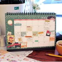 2016台历韩版创意文具日历记事商务办公桌面小清新年历计划本台历