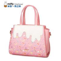 Miffy米菲新款手提包斜挎单肩包卡通立体贴时尚女包包袋潮流