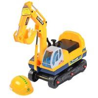 欢乐童年 嘉百乐儿童电动挖掘机脚踏 大号可坐可骑挖土机 宝宝挖挖机玩具