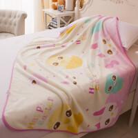 御目 儿童毛毯 春夏季单层薄款珊瑚绒小孩婴儿小盖毯小baby毯子新生儿绒毯柔软舒适宝宝床品