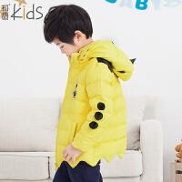 初语童装 冬装新款儿童 羽绒服纯色时尚男童羽绒服 T5409400031