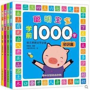 全4本 幼儿识字书 聪明宝宝学前1000字 幼儿园学前班看图识字教材幼升小幼小衔接书籍