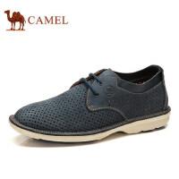 骆驼牌男鞋真皮镂空时尚伐木鞋日常休闲男皮鞋子透气低帮鞋