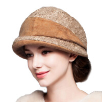 帽子女冬天毛呢帽秋冬防风保暖圆顶礼帽