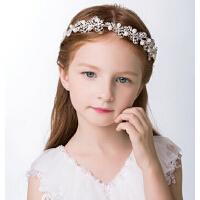 新款时尚儿童珍珠水钻头饰 灰姑娘发饰水晶软皇冠女童配饰