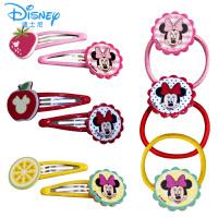 迪士尼女童发饰套装米妮发夹儿童不伤发发圈