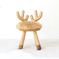 【小鹿椅】白蜡木创意小板凳 儿童动物椅子 新年礼物