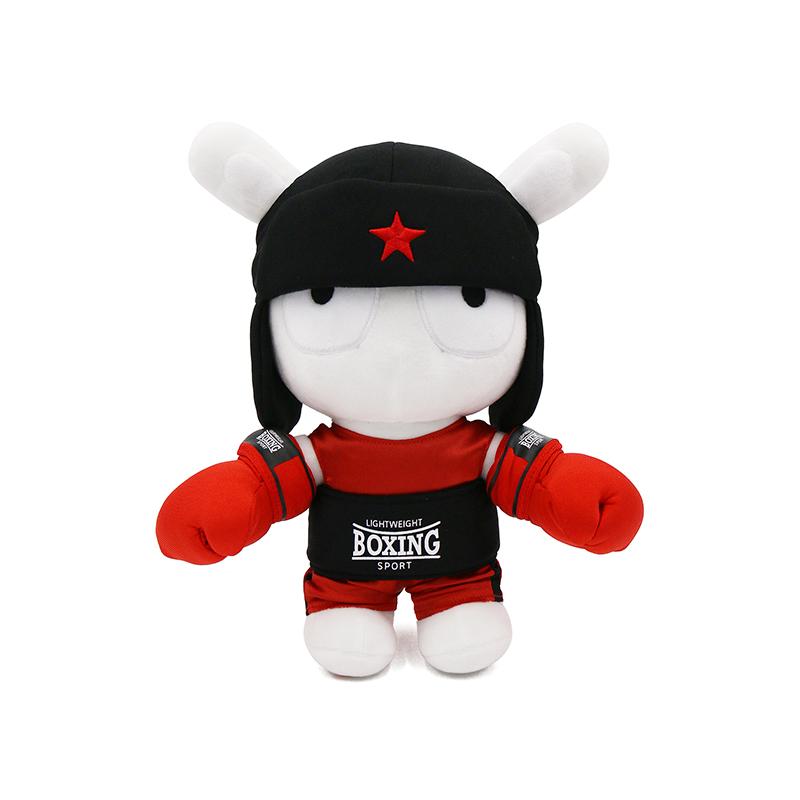 小米 拳击手版米兔公仔毛绒布衣类玩具 儿童玩具_红色