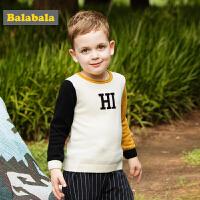 巴拉巴拉童装男童毛衣小童宝宝套头衫秋装2017新款儿童针织衫