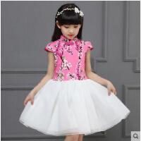 小女孩演出服儿童旗袍连衣裙女童公主裙中国风主持人礼服儿童服装支持礼品卡支付