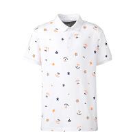 【618大促】鸿星尔克(ERKE)童装炫彩儿童运动T恤 百搭星星微领T恤 男童休闲T恤上衣