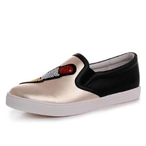 milkroses 时尚趣味卡通布贴懒人鞋