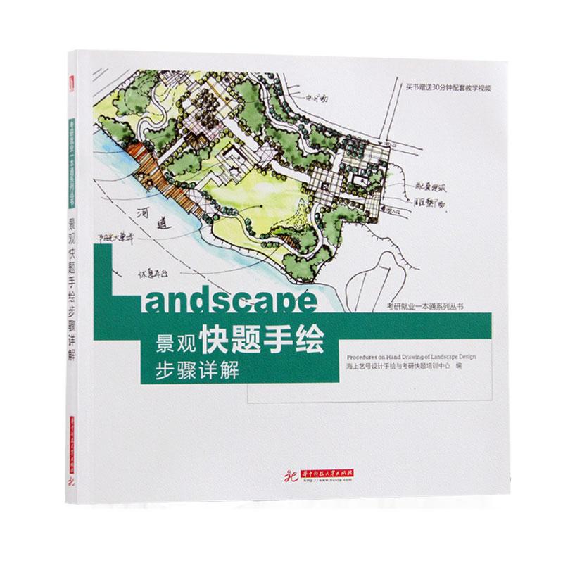 景观快题手绘步骤详解 设计手绘 设计分析图 素描 线条 色彩 景观设计