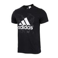 Adidas阿迪达斯男装 运动休闲圆领透气短袖T恤 BK2812 现