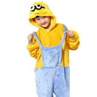 儿童卡通动物家居秋冬季服男女童小孩小黄人儿童连体衣睡衣