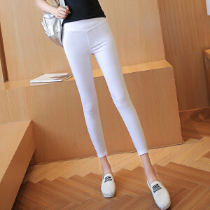 夏季薄款韩版高腰薄款紧身弹力显瘦铅笔裤九分小脚裤打底裤外穿女LB906