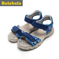 巴拉巴拉童鞋男童单鞋中大童2017夏季新款凉鞋儿童男中童凉鞋子男