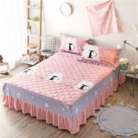 全棉加厚保暖纯棉夹棉欧式床罩1.2/ 1.5/1.8米床罩单件床裙床套
