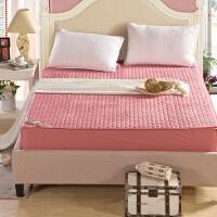 加厚保暖水晶绒床笠 防滑床垫褥子 夹棉席梦思保护套床罩1.8