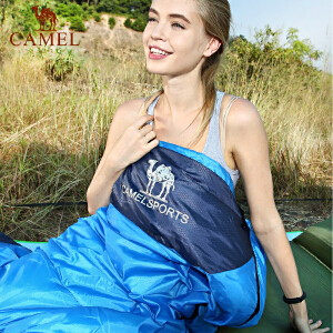 camel骆驼户外睡袋 1.1kg轻盈加厚保暖双人旅行露营室内便携成人睡袋冬
