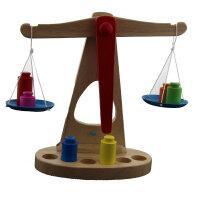 乐优右脑 蒙特梭利教具 纯木制天平枰 称重平衡游戏儿童早教