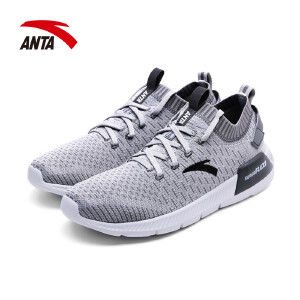 安踏男鞋跑步鞋2017夏季新款透气舒适耐磨运动休闲慢跑鞋11725550
