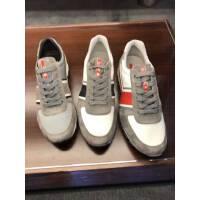 Prada 灰色拼色透气男士休闲运动鞋