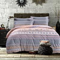 御目 三件套 夏季纯棉印花学生床上用品宿舍全棉床裙被套床单枕套单人四季可用家居用品