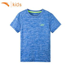 安踏童装 男童短袖2017夏季新款上衣跑步短袖运动T恤圆领35725146