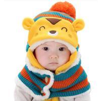 男女童帽子围脖两件套 宝宝韩版潮帽围脖两件套 婴儿帽子围脖两件套松鼠儿童帽子围巾套装