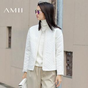 【AMII超级大牌日】[极简主义]2017年春季新款女装圆领提花大码宽松短外套11683301