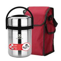 【当当自营】MAXCOOK美厨不锈钢保温提锅饭盒 1.5L 真空防溢 MCTG-475 带保温袋颜色* 长效保温