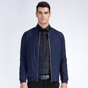 才子男装(TRIES)夹克 男士2017年新款纯色简约百搭修身版夹克外套