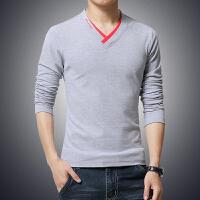 新款秋款男士休闲时尚长袖立领T恤潮流运动T恤